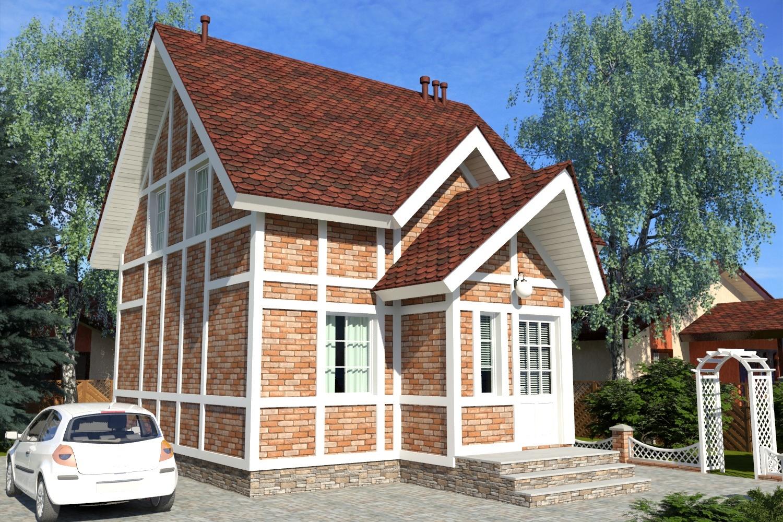 Готовые проекты домов с мансардой 93 м2