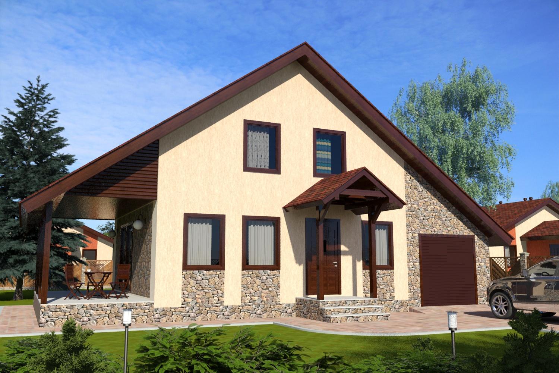 Проект и планировка дачного дома 4х6 с чертежами