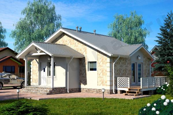 Одноэтажный жилой дом ПД-70-К-87