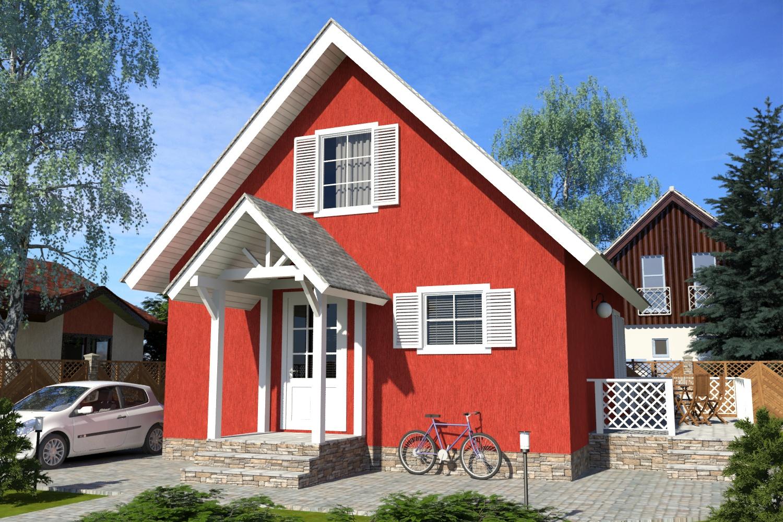 Готовые проекты домов с мансардой 86 м2