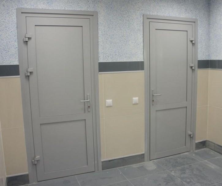 Глухие алюминиевые двери