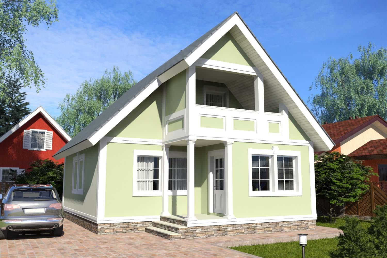 Готовые проекты домов с мансардой 112 м2