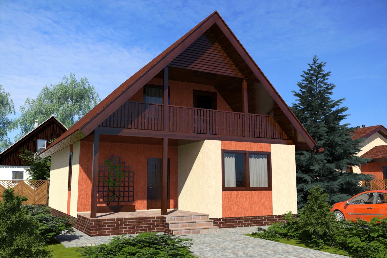 Готовый проект дома с мансардой 131 м2