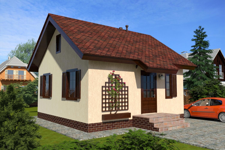 Одноэтажный жилой дом ПД-90-К-43