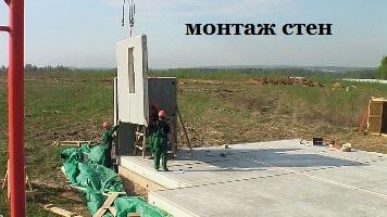 монтаж стен каркасного дома в тюменской области