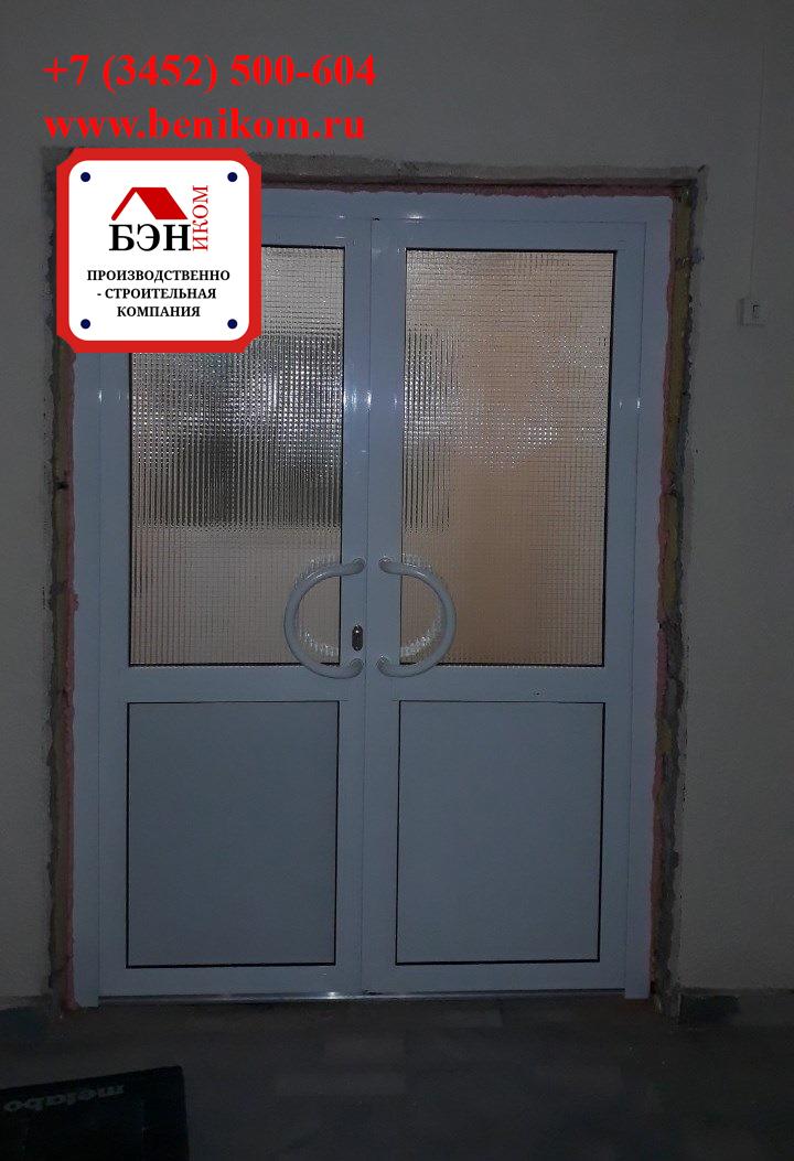Алюминиевые двери с армированным стеклом