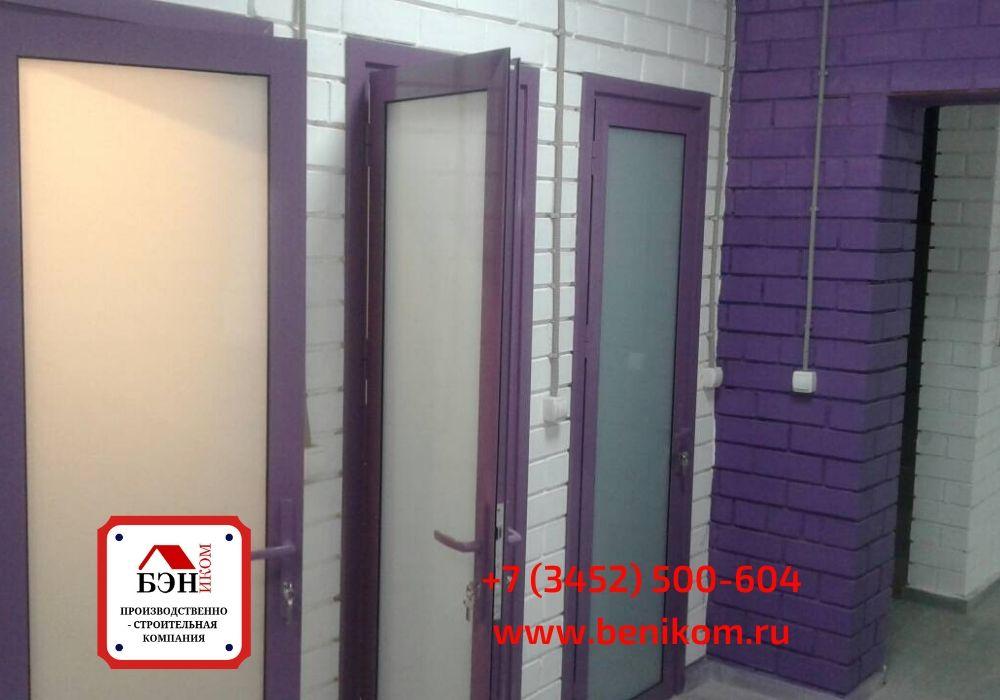 Одностворчатые алюминиевые двери