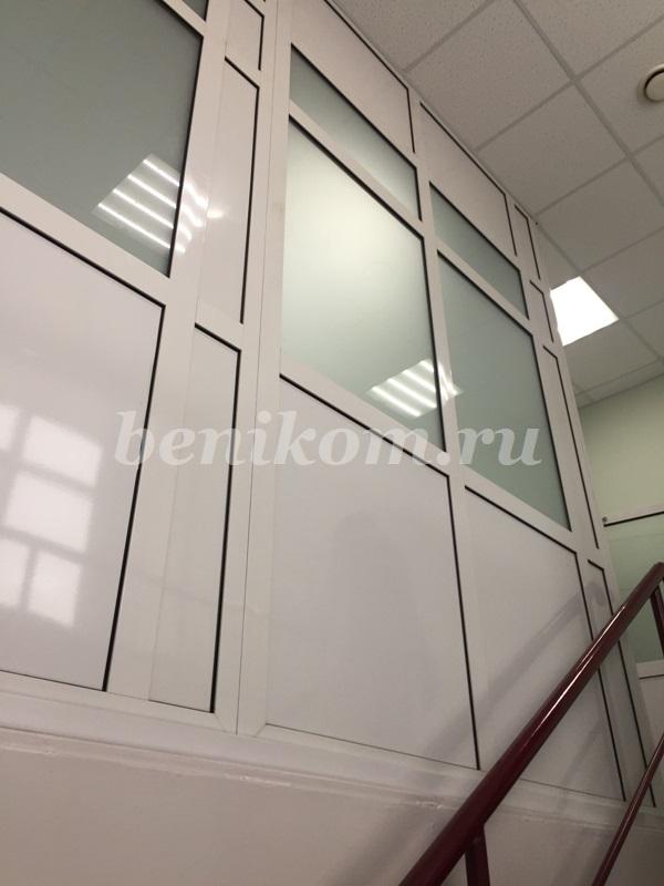 Перегородки и двери из профиля СИАЛ