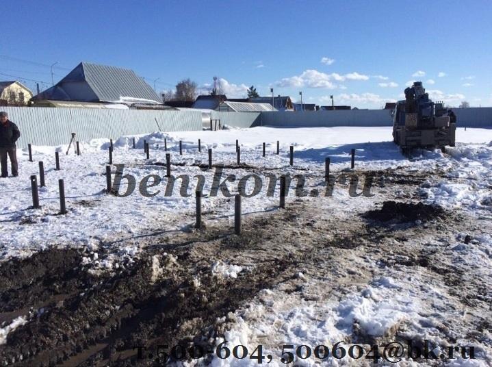 Монтаж винтовых свай в Утяшево под дом из бруса