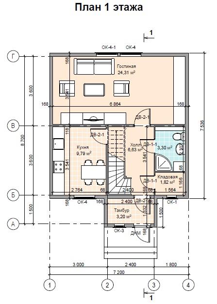 план ПД 100 1этаж