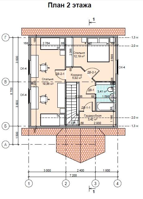план ПД100 2этаж