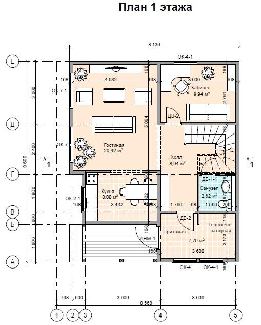 план 1 этажа ПД147