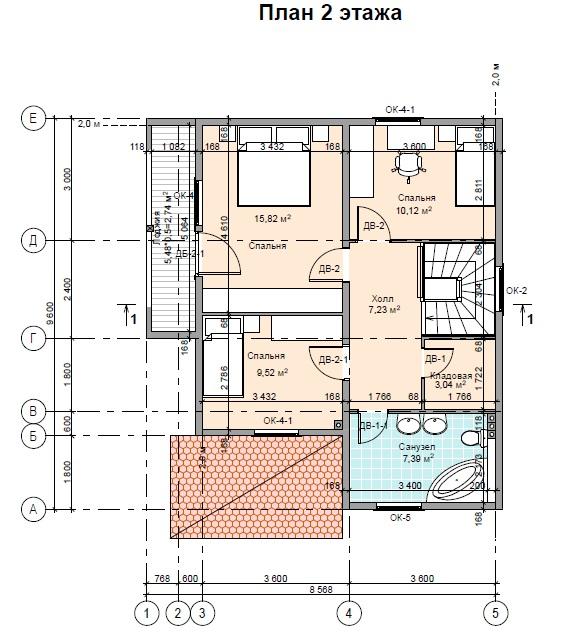 план2 этажа ПД147