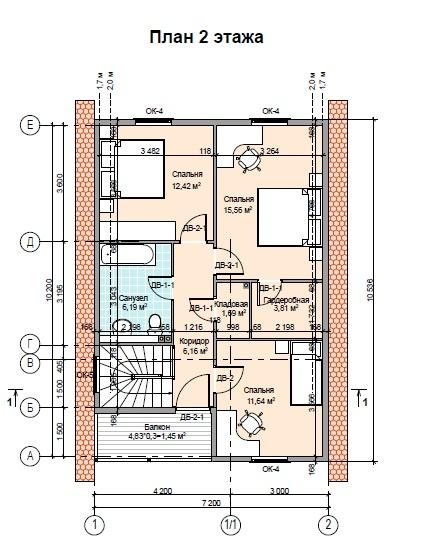 План дома ПД-27 2 этаж