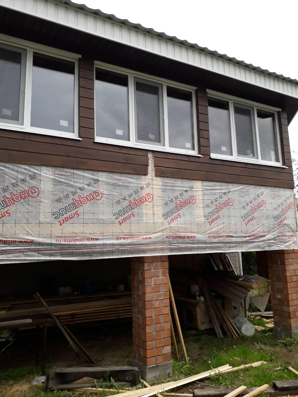 Остекление веранды дома ПВХ окнами