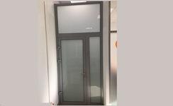 Двухстворчатые двери с матовым стеклом