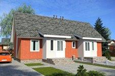 Мансардный 2-х квартирный жилой дом ПД-125-К-160