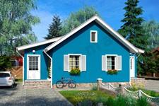 Проект одноэтажного дома на две семьи ПД-2-К-76