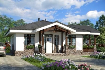 Одноэтажный проект дома Бавария ПД-330-1-109