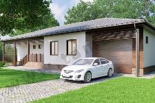 Проект одноэтажного дома с гаражом ПД-71-4-184