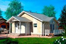 Одноэтажный жилой дом ПД-70-К-91