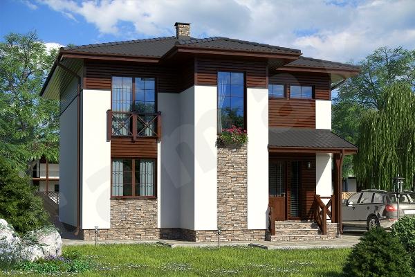 Проект двухэтажного дома Крым ПД-350-1-156