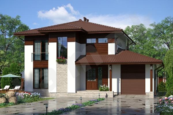 Проект двухэтажного дома Крым ПД-183
