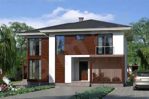 Проект двухэтажного дома Крым ПД-352-1-251