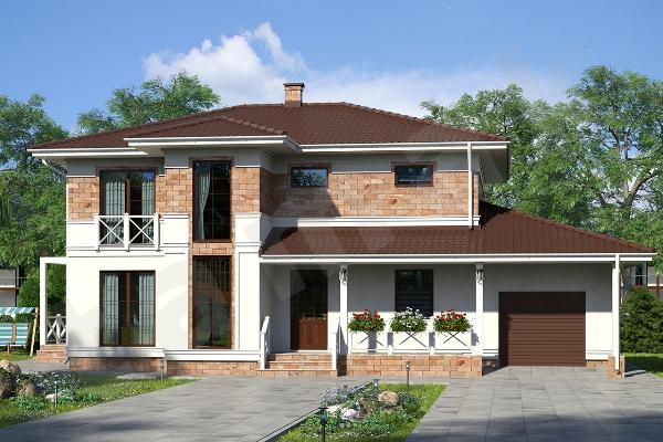 Проект двухэтажного дома Крым ПД-353-1-284