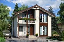 Проекты двухэтажных домов Зальцбург ПД-320-1-125