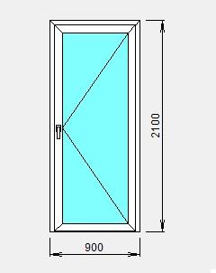 стеклянная алюминиевая дверь цены