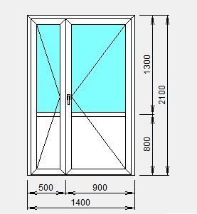 двухстворчата алюминиевая дверь цены