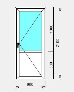 комбинированная алюминиевая дверь цена