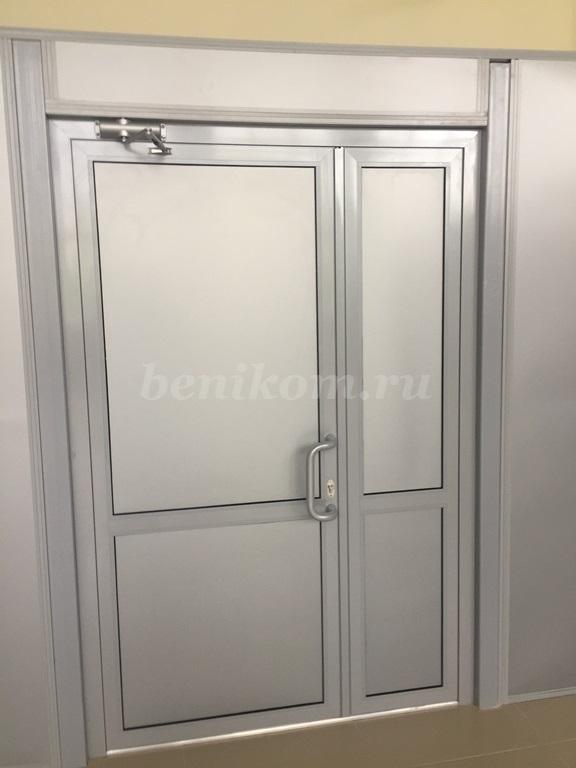 Дверной блок (двухстворчатый) холодный алюминий